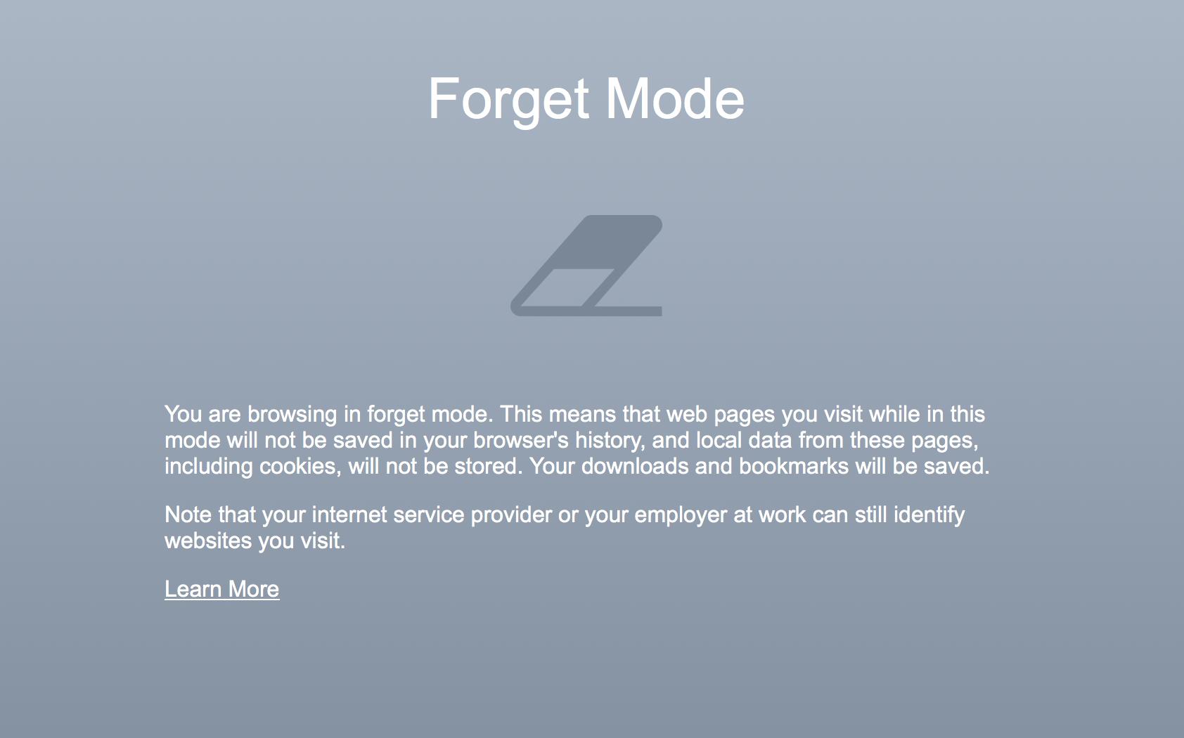 Screenshot Vergessen Fenster Cliqz