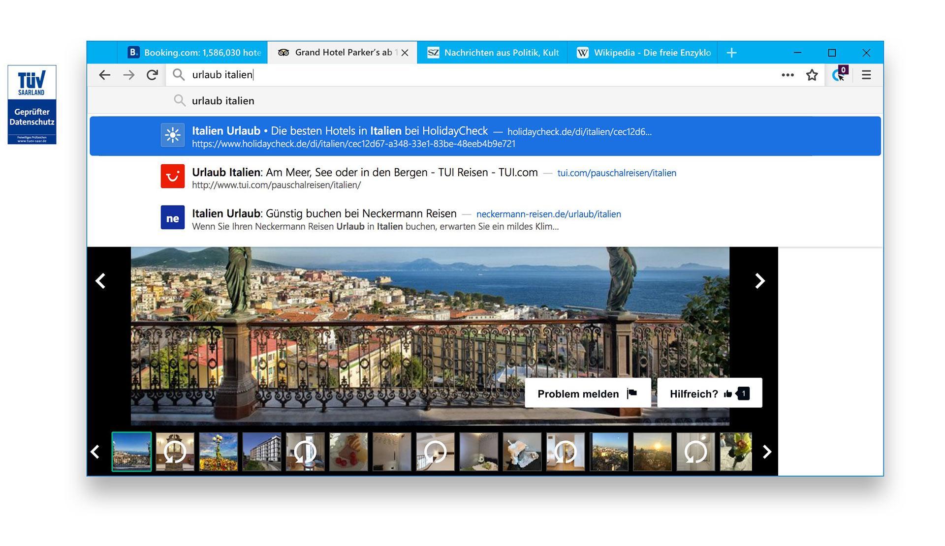 Cliqz Browser Screenshot