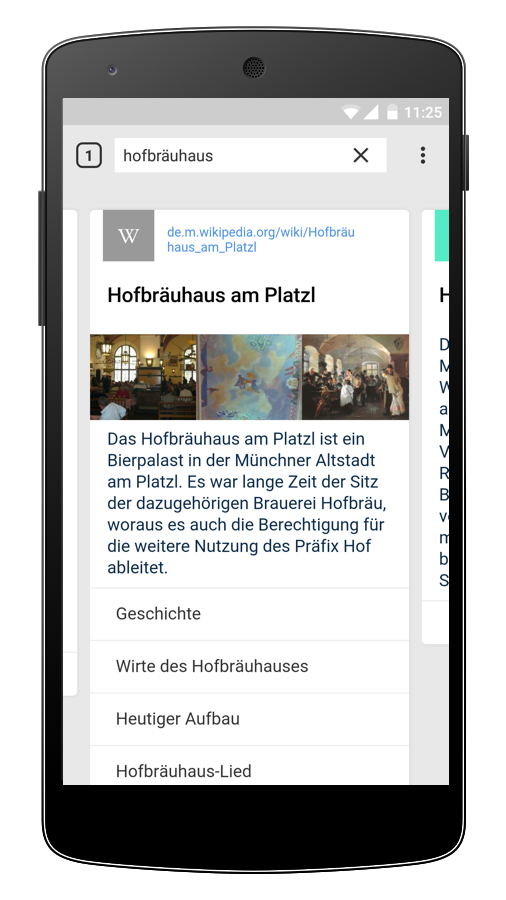 Cliqz Android Browser: Schnellsuche