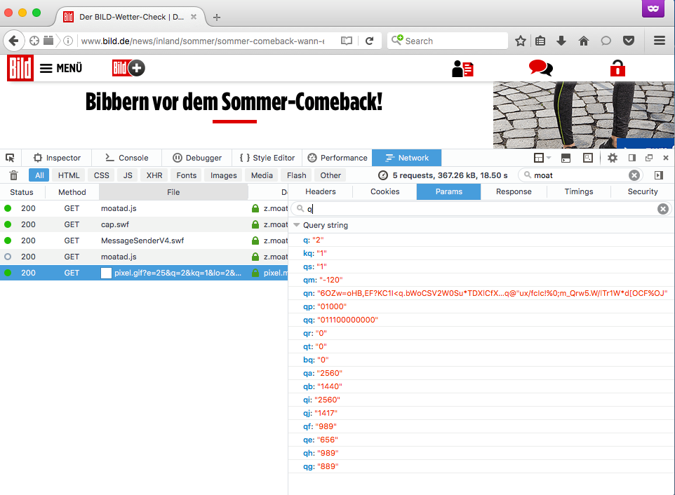 Bild.de Tracker 2