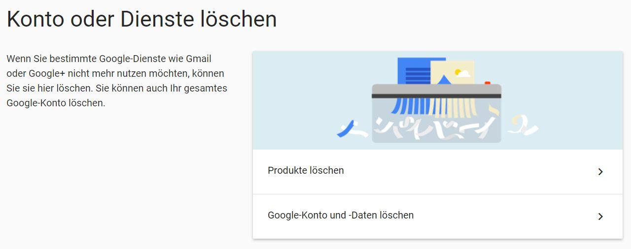 Google-Konto löschen