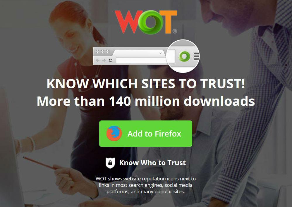(Screenshot von WOT-Website)