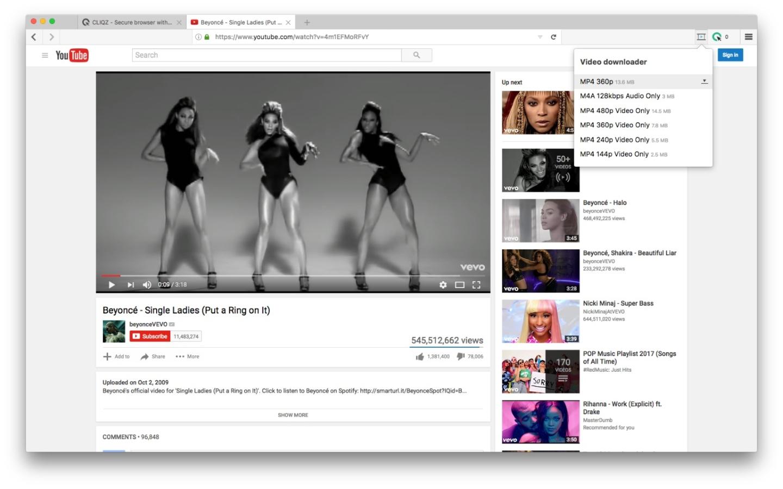 Cliqz Video Downloader
