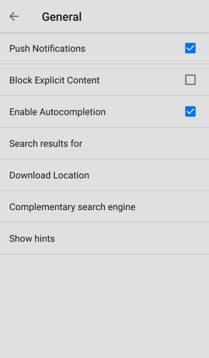 Tutorial complementary search engine Android - step 3