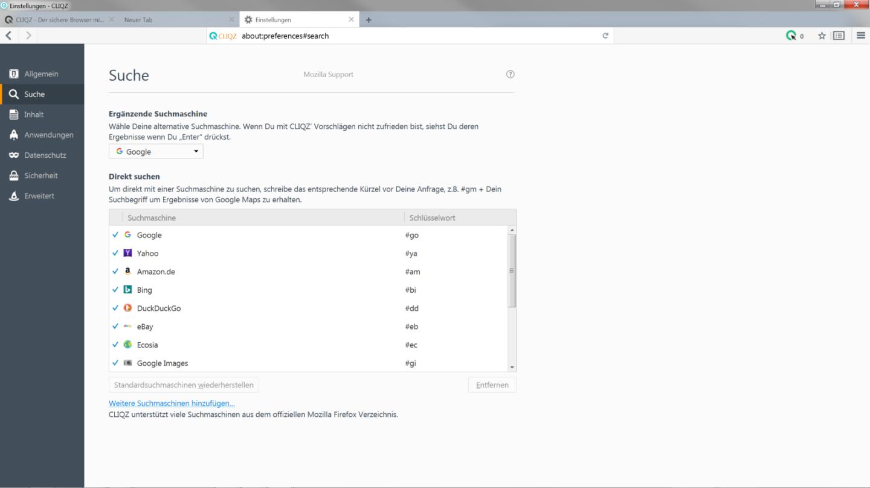 Tutorial ergänzende Suchmaschine - Schritt 2