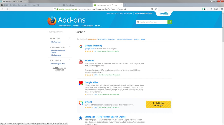 Tutorial ergänzende Suchmaschine - Schritt 4