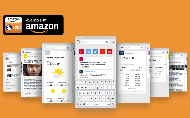 Cliqz in Amazon Appstore