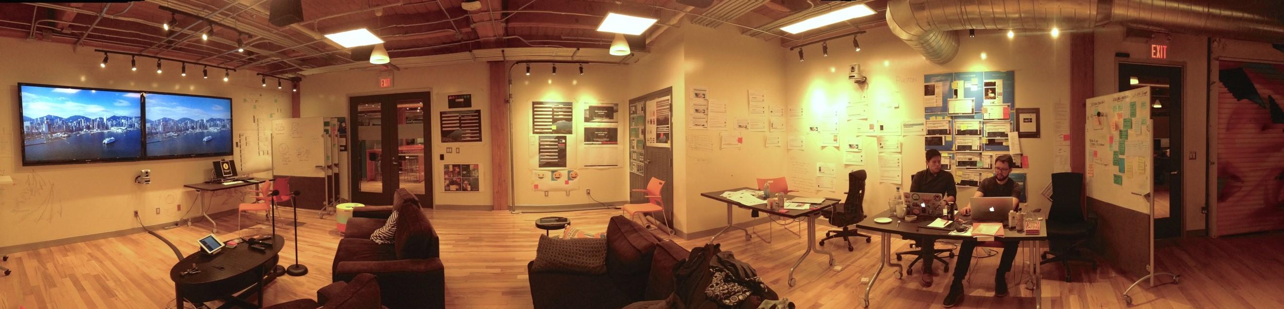 Blick in die Designabteilung des Mozilla-Büros in Toronto (Bild: Dominik Schmidt).