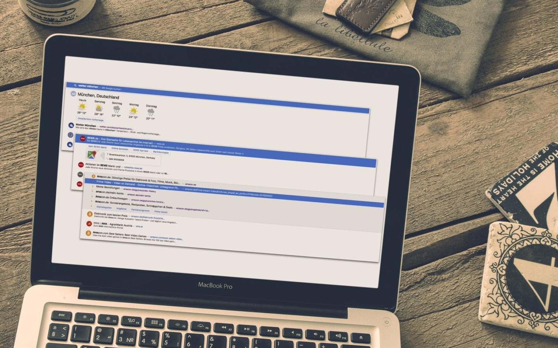 New Cliqz UI on MacBook Pro