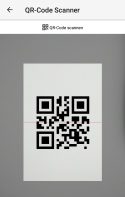 QR-Code Scanner in Cliqz für Android