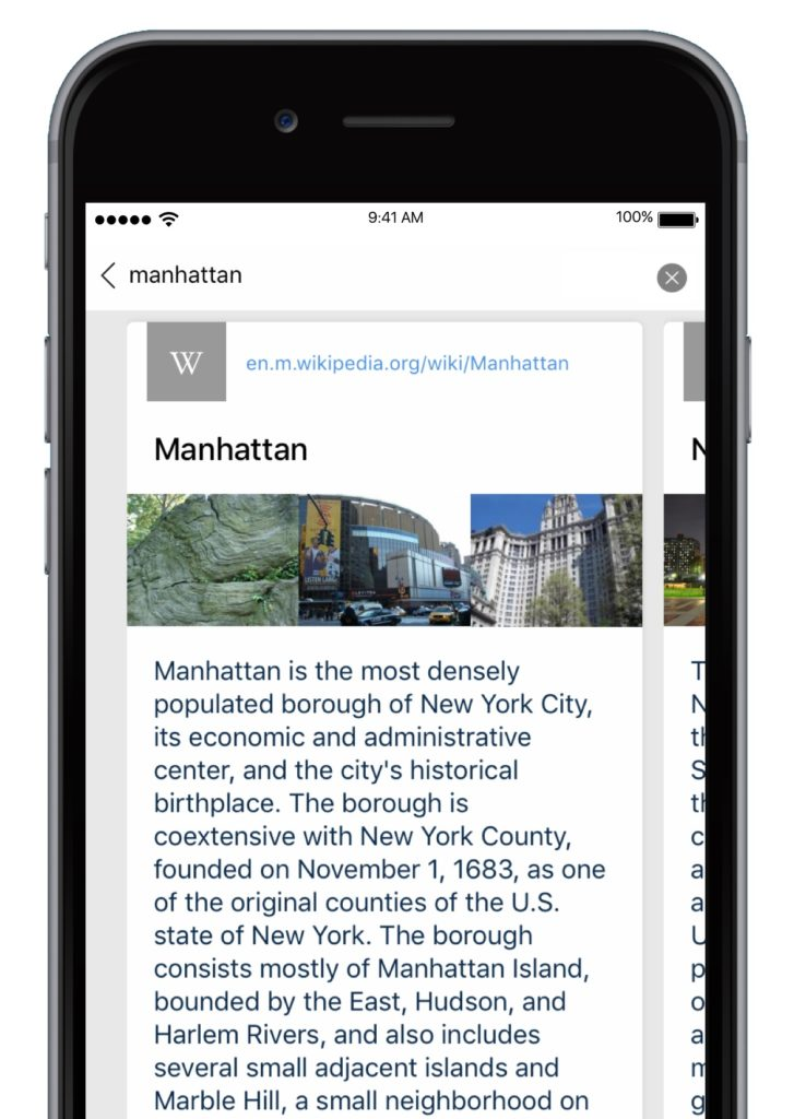 Cliqz for iOS quick search wiki