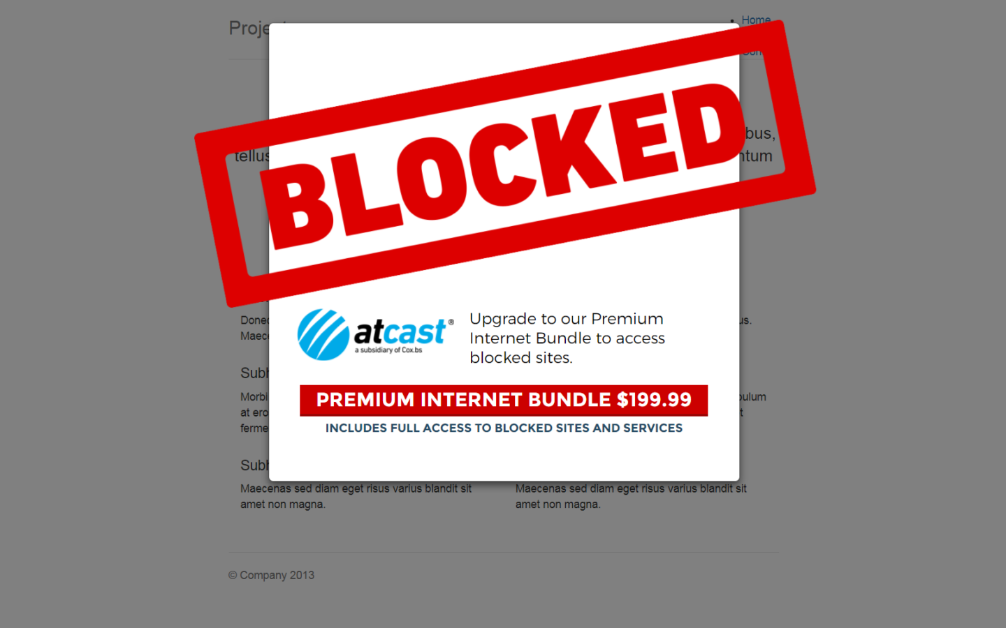 By showing fictional alert pop-ups on their websites, participating organizations like the EFF want to demonstrate the negative consequences the planned abolition of net neutrality in the US would entail (Source: EFF).