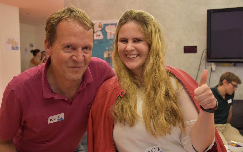 Auch Axel und Aneta von SupplyOn waren sehr zufrieden mit den Testern (Bild: Cliqz).