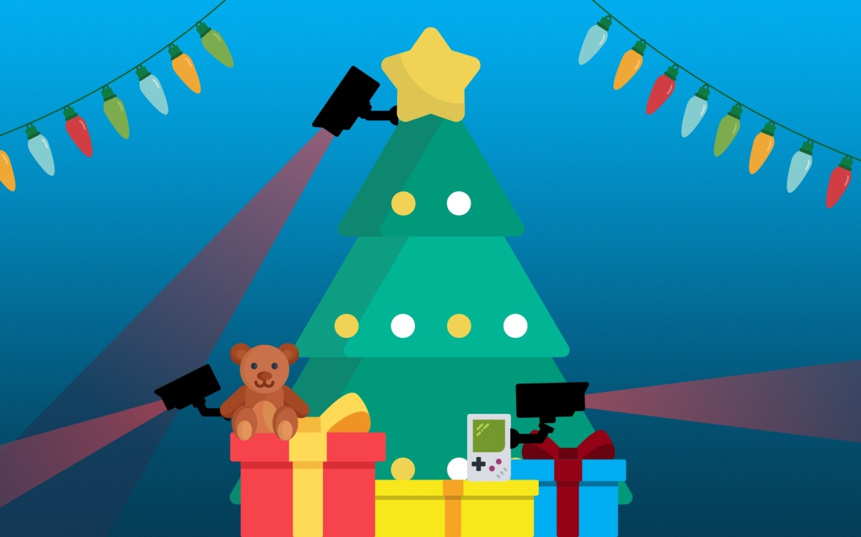 spies beneath the christmas tree