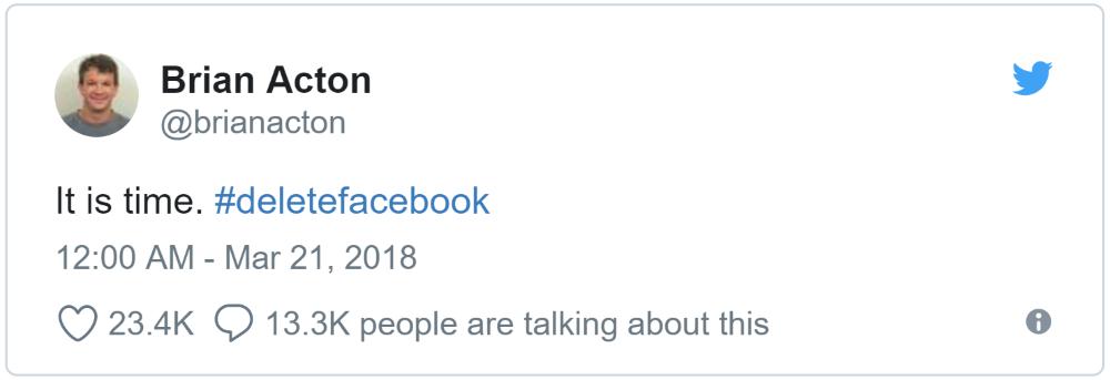 Brian Acton #deletefacebook