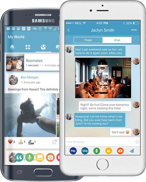 MeWe gibt es als App für Android und iOS (Bild: MeWe).