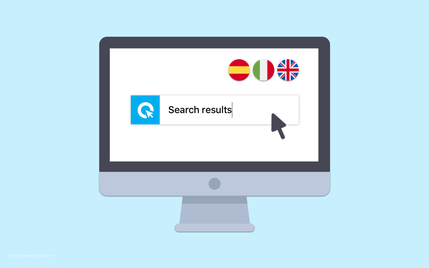 Cliqz quick search ES IT UK (Icons by Freepik www.flaticon.com)