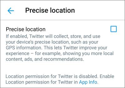 precise location