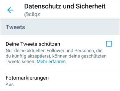 Tweets schützen