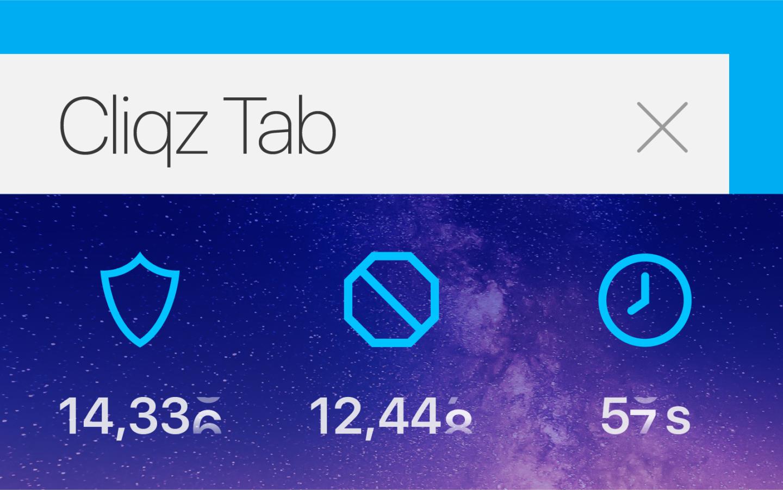 Cliqz Tab Privacy Stats