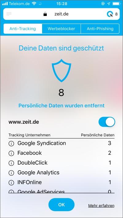 Cliqz Anti-Tracking
