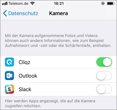 App-Berechtigungen einschränken