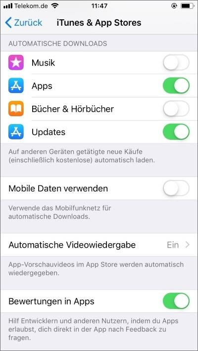 Automatische Downloads einrichten