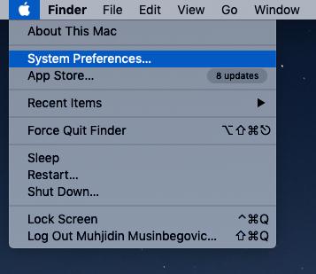 Cliqz default browser on Mac step 1