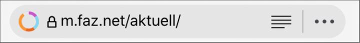Browserzeile von Cliqz
