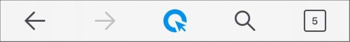Steuerleiste mit Such-Icon