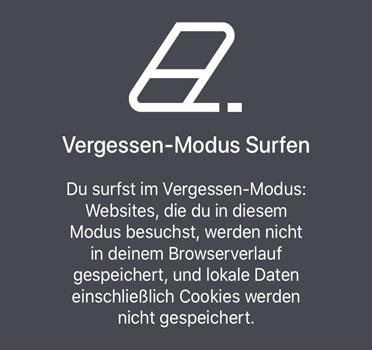 Vergessen-Modus in Cliqz for iOS