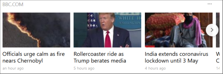Followed news sources will appear between the curated top news in the news feed on your Cliqz homepage.