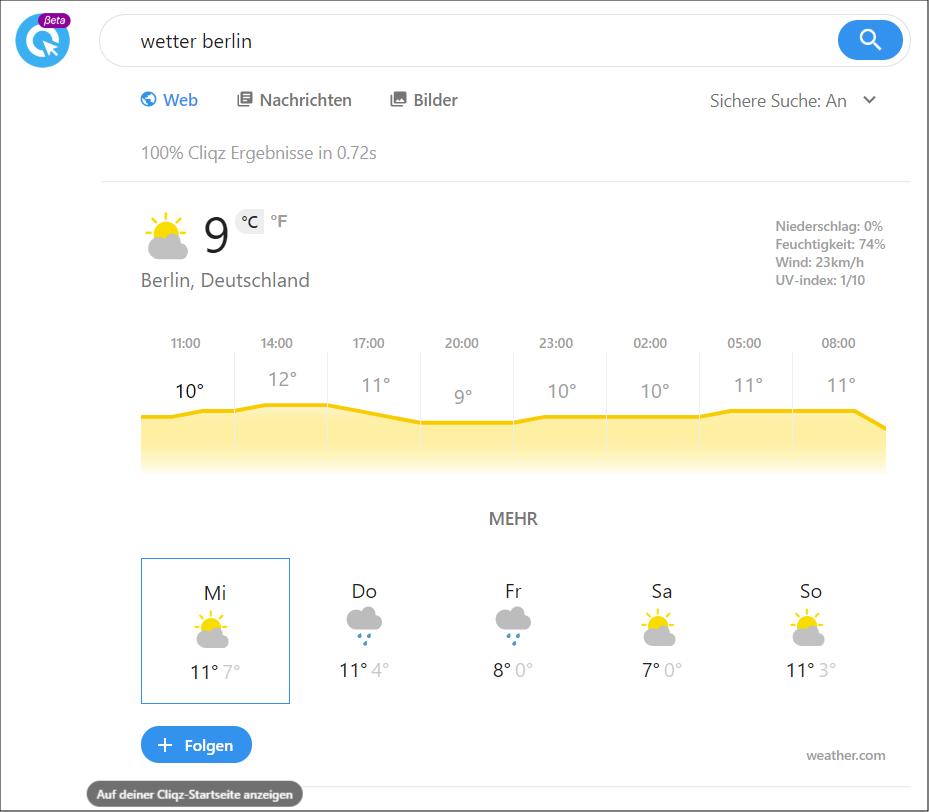 Wetter Smart Cliqz